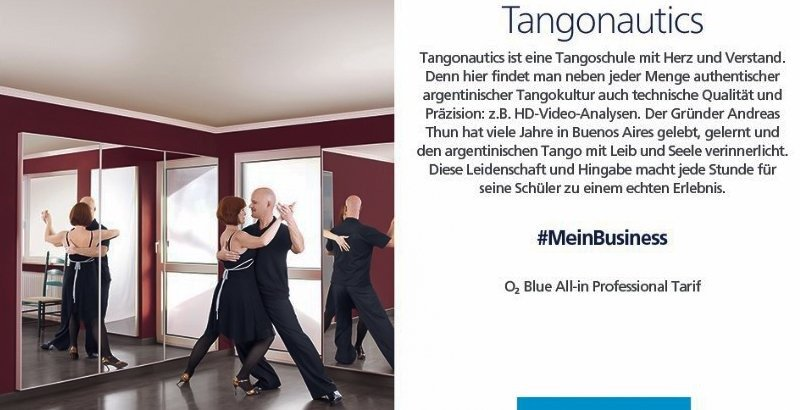 Tango München - Tangonautics Werbepartner O2