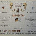 "Zertifikate ""Tango Argentino Lehrer"" von Andreas"