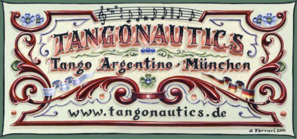 Tango lernen München mit Tangonautics - unser Fileteado aus Buenos Aires