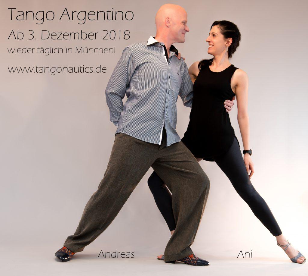 Privater Tangounterricht in München - wieder täglich ab 3. Dezember 2018 in München