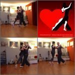 Ani & Andreas de Tangonautics beim Tango-Training in der Tangonautics Sala